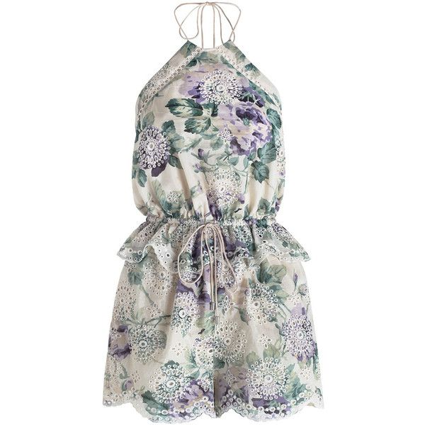 select for latest complete range of articles premium selection Zimmermann Lucia Embroidered Playsuit ($460) ❤ liked on ...