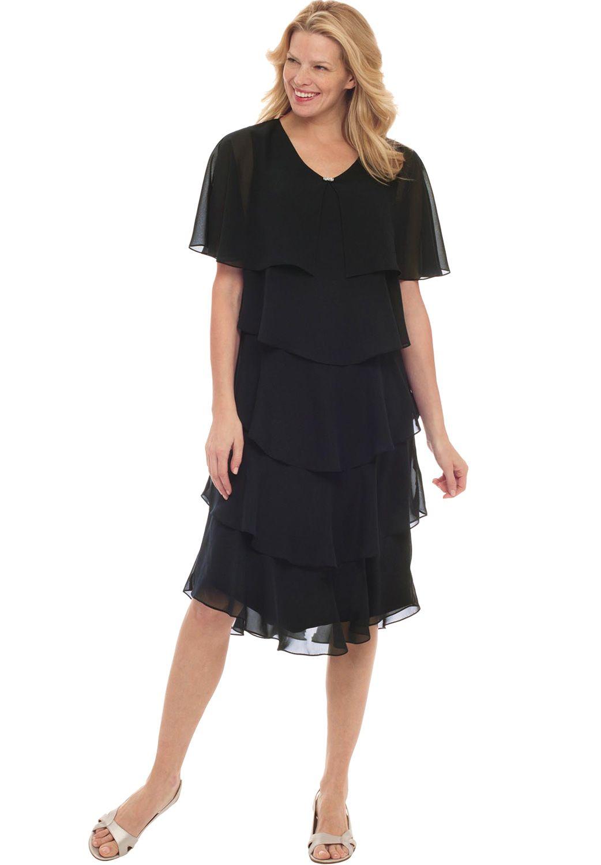 Woman Within Chiffon Dress