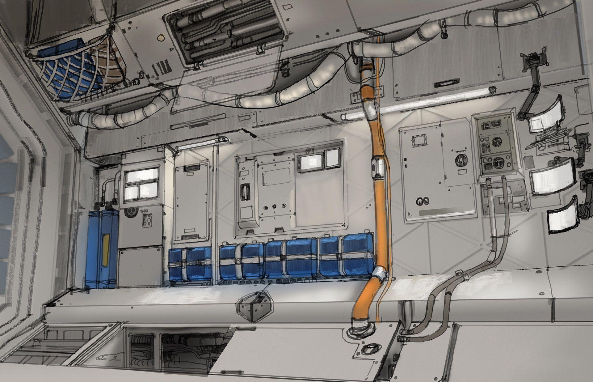 ArtStation - Exoplanet Station Design 02, Adrien Girod ...