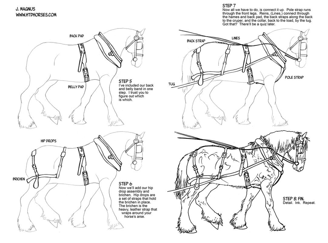 How To Draw Horse Tack Tack