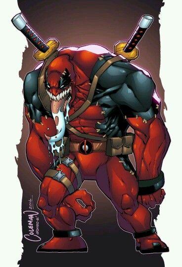 Venompool Jeje Spiderman Coloring Marvel Comic Universe Deadpool