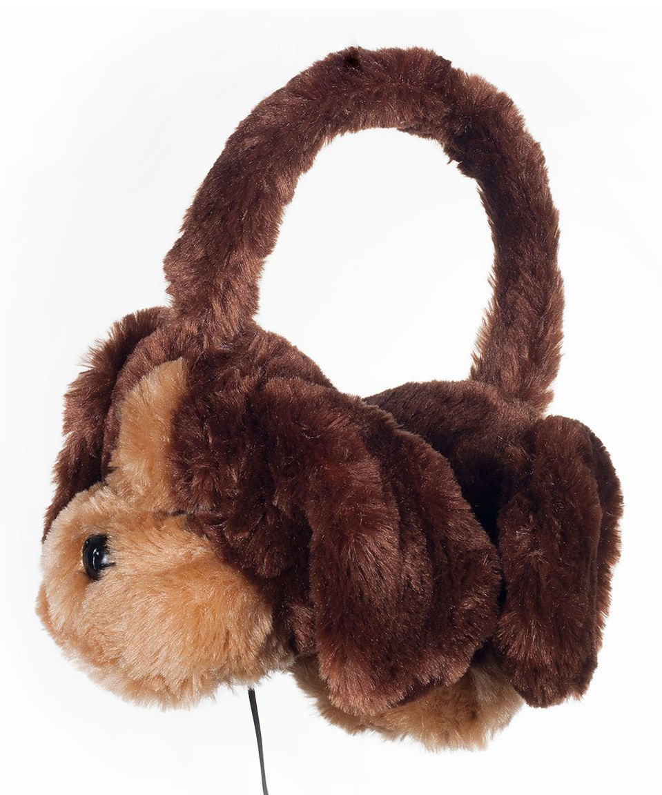 Look at this #zulilyfind! Puppy Plush Stereo Headphones by  #zulilyfinds