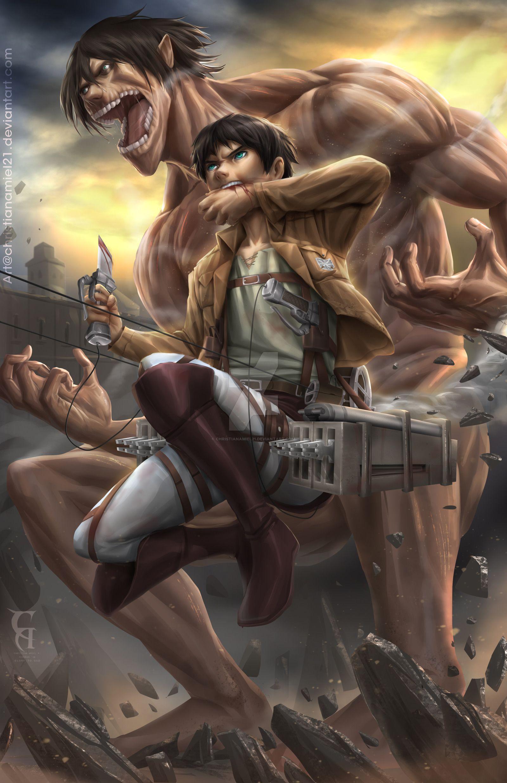 Eren Jaeger Fanart Attack On Titan Anime Attack On Titan Fanart Attack On Titan Eren