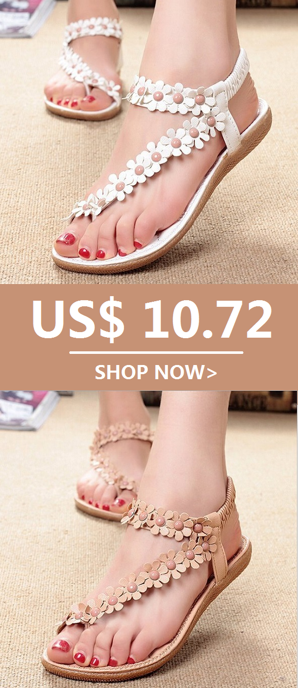 0e4a35166ccd Bohemia Flowers Splice Clip Toe Flat Slip On Sandals. Worldwide Shipping. 2  Colors For Options.Sizes From US 5 To US 10. Newchic Shoes Sandals summer  ...
