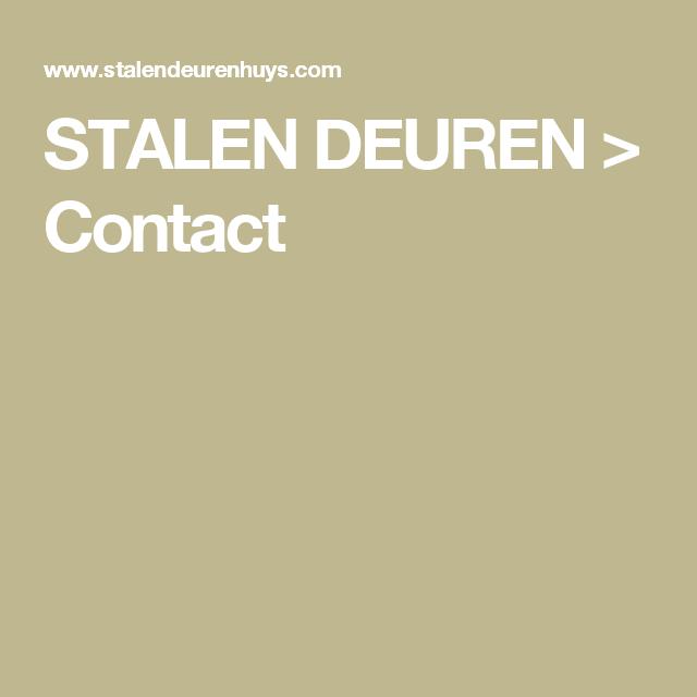 STALEN DEUREN > Contact