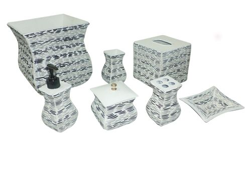 Bathroom Unique Accessories Sets Crystal Embedded Set