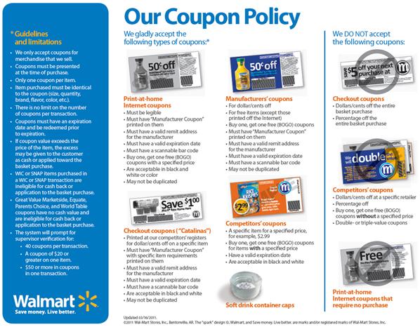 Walmart Coupon Policy Walmart Coupon Print Coupons Coupons