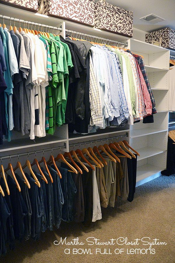 Martha Stewart Closet System // This Could Work Really Well In My Closet |  Closet | Pinterest | Martha Stewart, Master Closet And Closet Organization