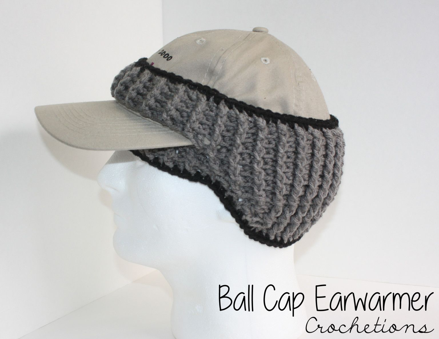 Handmade crochet headband for ball cap wearers! Great for winter weather to  keep those ears warm! 5bb4397e7af