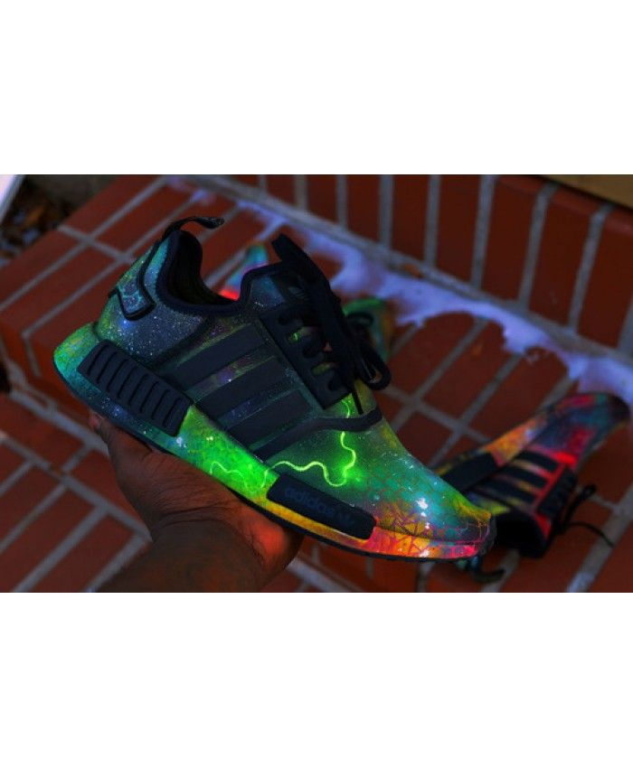 f13177ef8 Adidas NMD R1 Black Green Fluorescence Shoes Absolutely authentic ...
