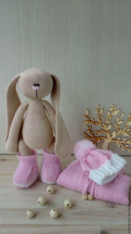 Купить Вязаный заяц Тильда - комбинированный, заяц, заяц ...