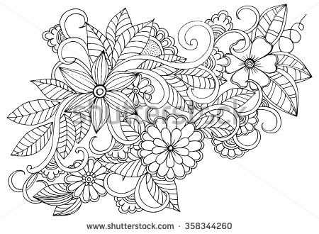 Page For Coloring Book Very Interesting And Relaxing Job Children Adults Flower Carpet In Magic Garden