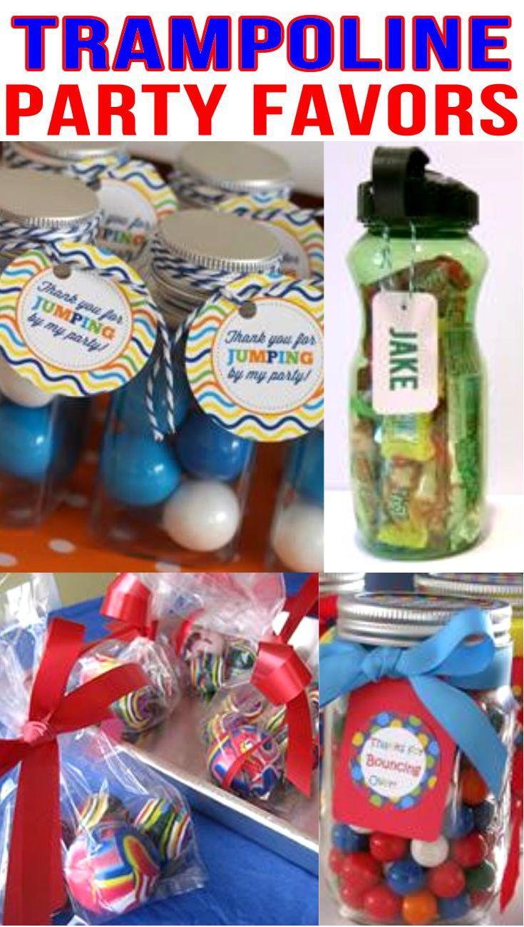 Trampoline Party Favor Bags Idea Bubbles Bubble Gum Personalized