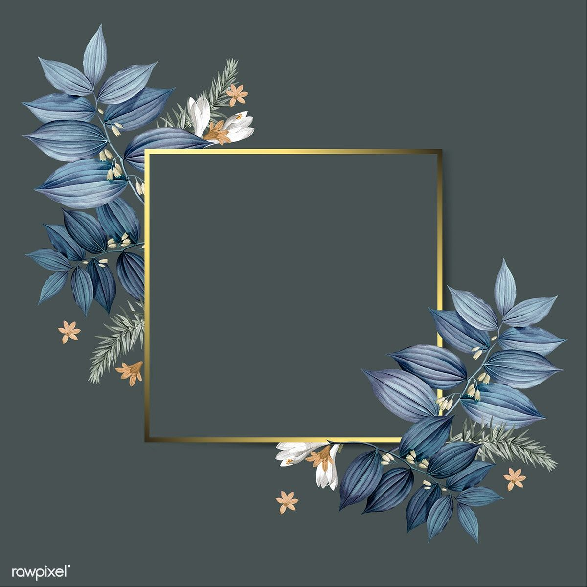 Download Premium Vector Of Empty Floral Frame Design Vector 520621 Frame Design Floral Background Colorful Backgrounds