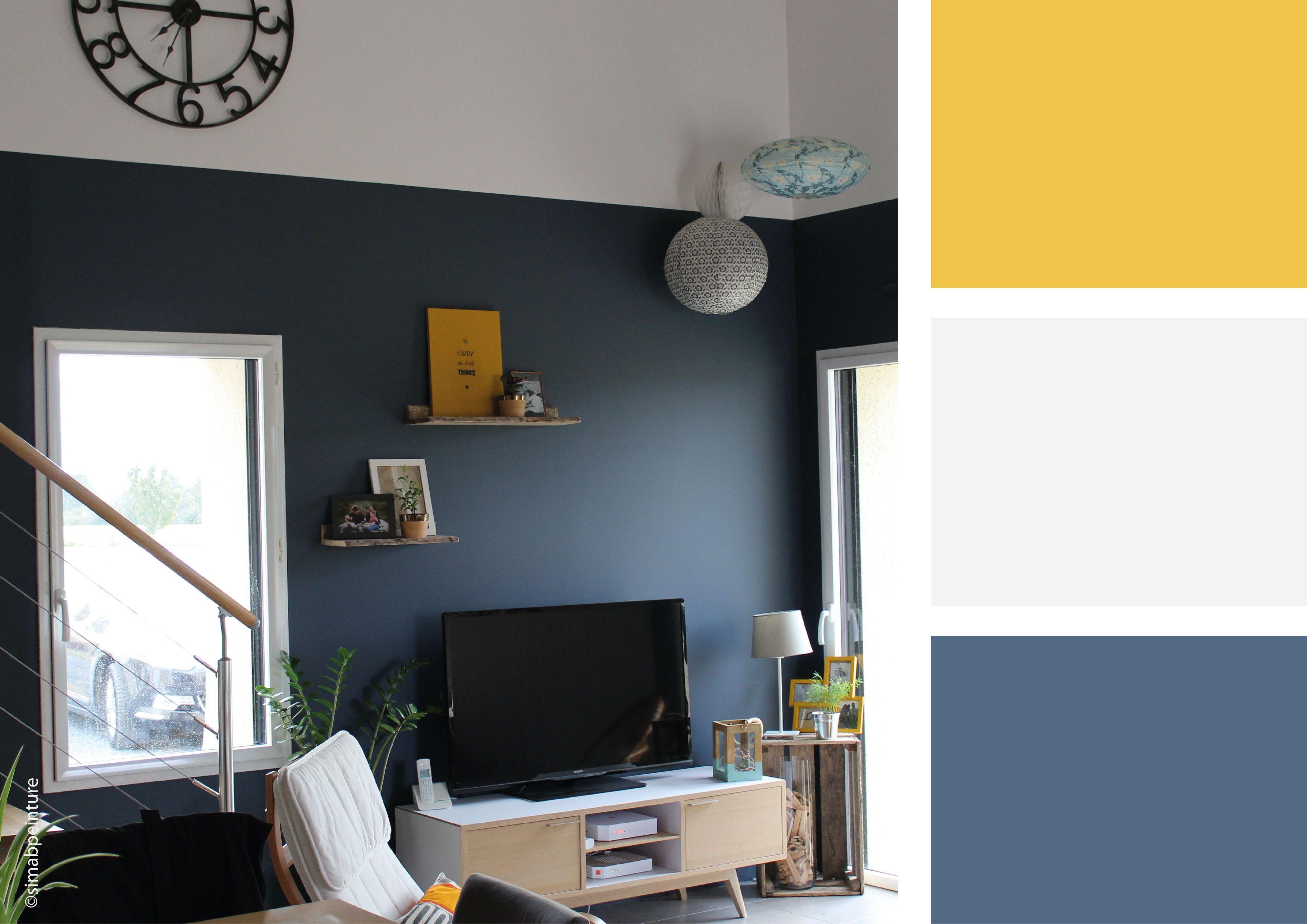 Harmonie Des Couleurs Dans Une Maison une association de couleurs chic et simple pour ce salon