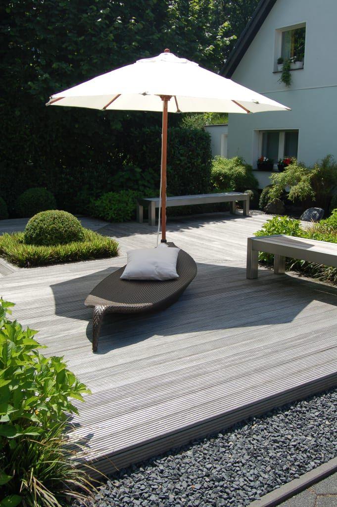 Finde Moderner Garten Designs In Grün: U2026 Sich Langsam Eine Holzterrasse,.  Entdecke Die