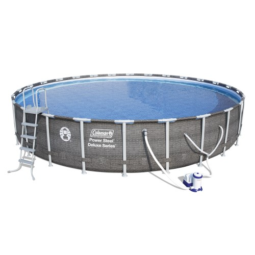 Coleman Power Steel 26 X 52 Deluxe Series Pool Set With Pump
