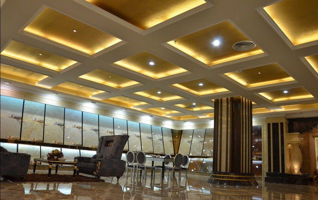 Modern Residential Lobby Google Search Ceiling Pattern Lighting Design Ceiling Design Retro Floor Lamps