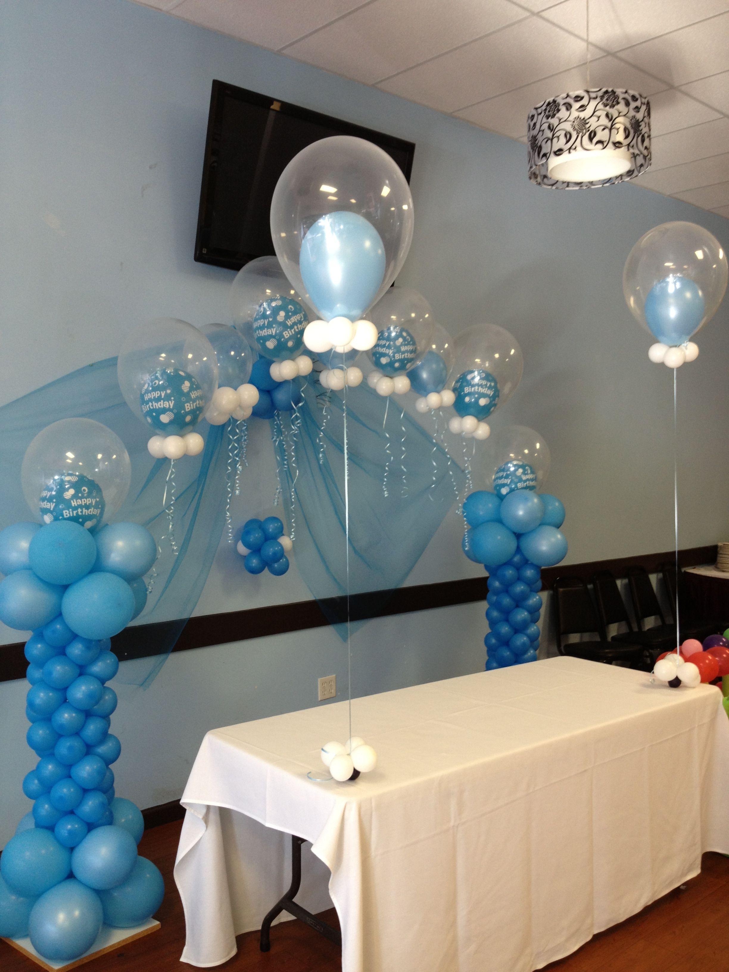Bubble balloon arch balloon columns bubble balloons