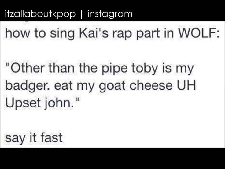 Exo Wolf Kai Rap Exo Memes Exo Exo Funny
