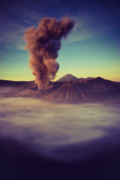 Stunning Bromo Mountain, Java Island