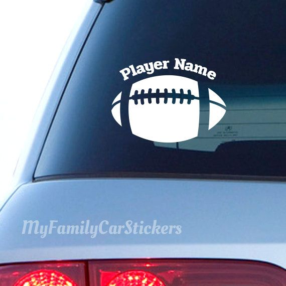 Football decal vinyl football ball car sticker custom