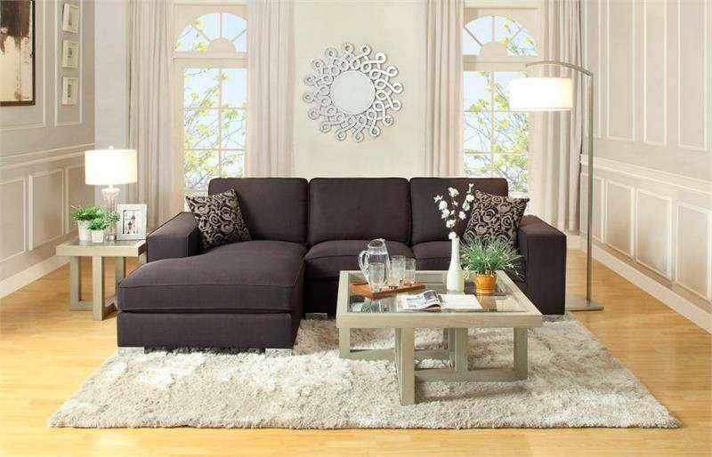 Marvelous Homelegance Modern Small Black Fabric Sectional Sofa Chaise Caraccident5 Cool Chair Designs And Ideas Caraccident5Info