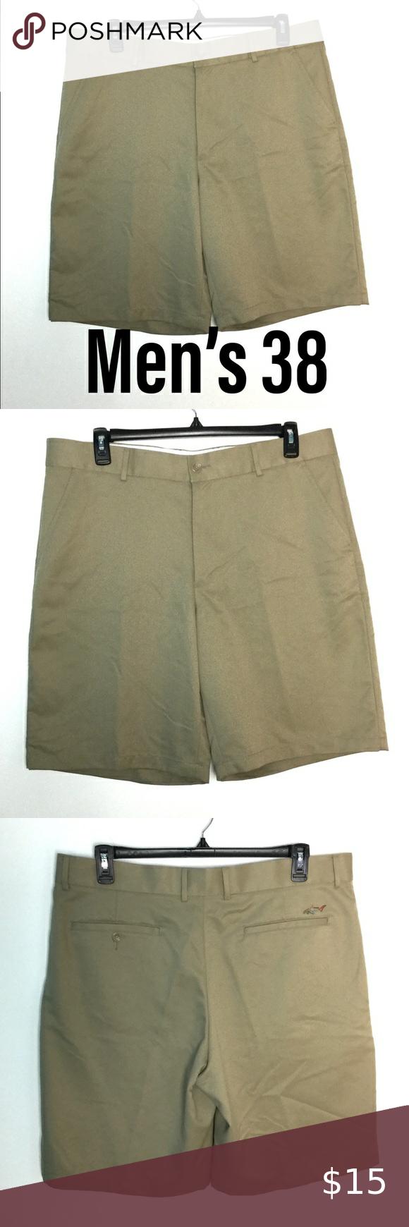 Greg Norman 38 Golf Khaki Shorts Khakis Chino Nwot In 2020 Khaki Shorts Khaki Chinos Chino Shorts Mens