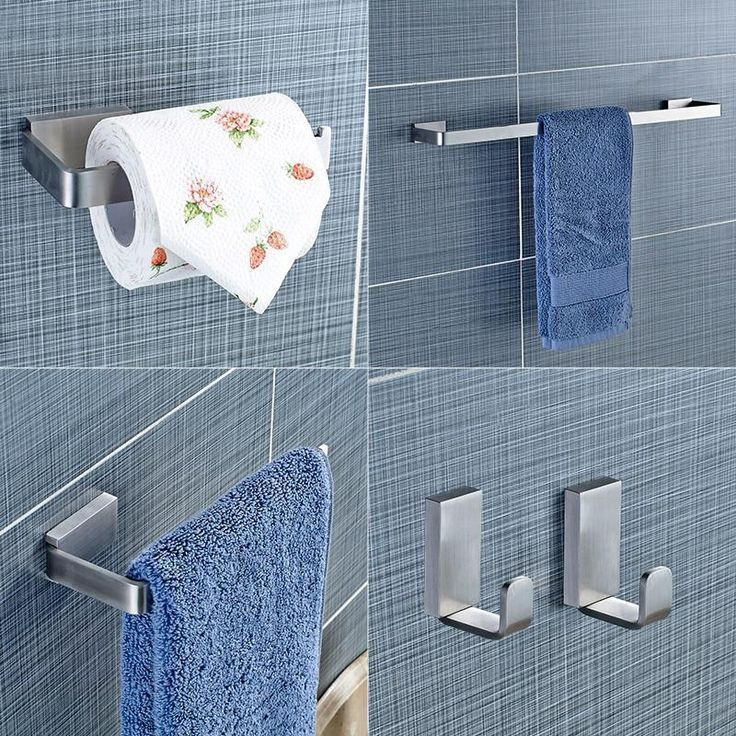 Photo of Yanjun 304 Stainless Steel Bathroom Hardware Set Brushed Holder Paper Holder to …