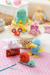 Ravelry: Platypus, Pig, Seal, Octopus, Mouse and Snail pattern by Irene Strange