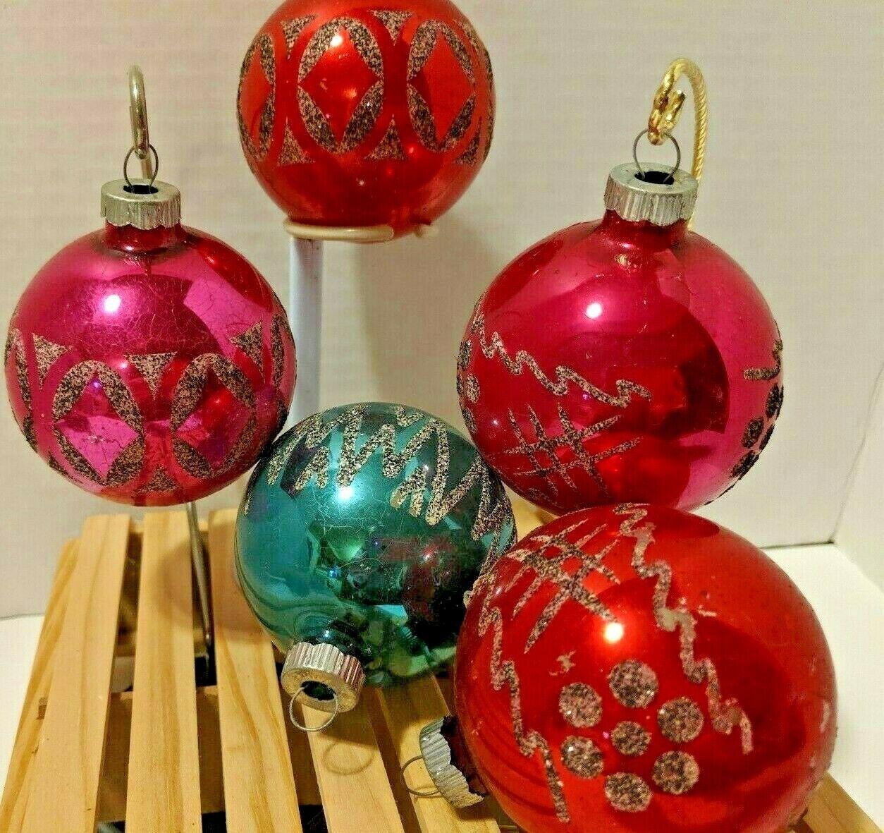 Shiny Brite Stenciled Christmas Ornament Lot By Testedandtried On Etsy Christmas Ornaments Shiny Brite Vintage Ornaments
