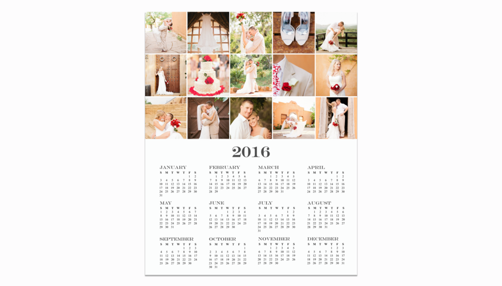 8x10 Photography Calendar Template For Photoshop By Posy Prints