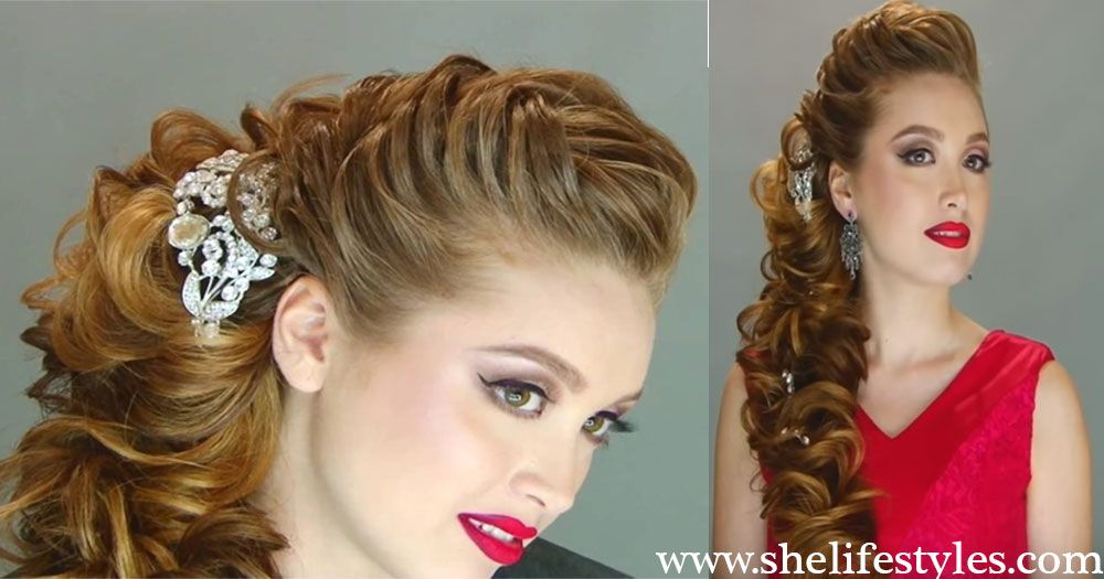 Today, you will get the chance to learn the amazing Queen bridal hairstyle tutorial. It is one ...