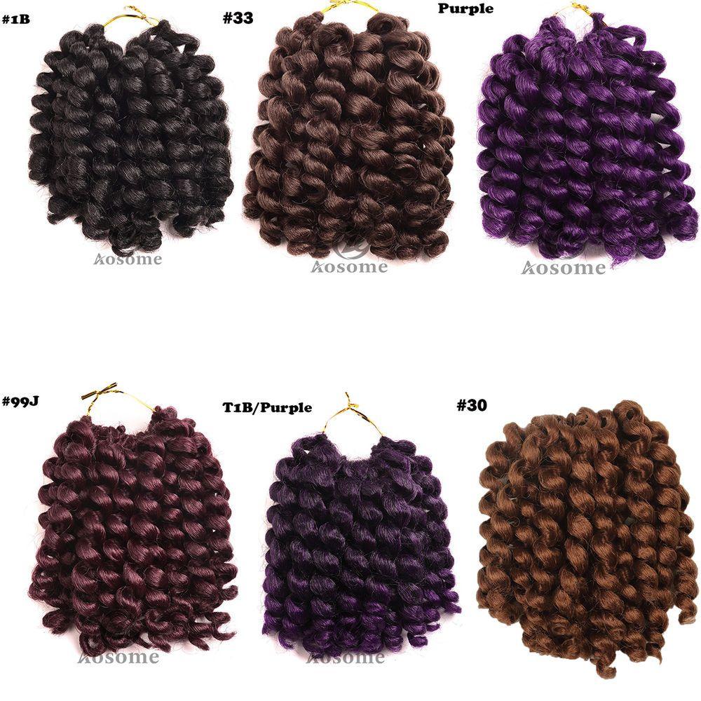Wand curl crochet hair extensions ombre havana mambo twist braiding