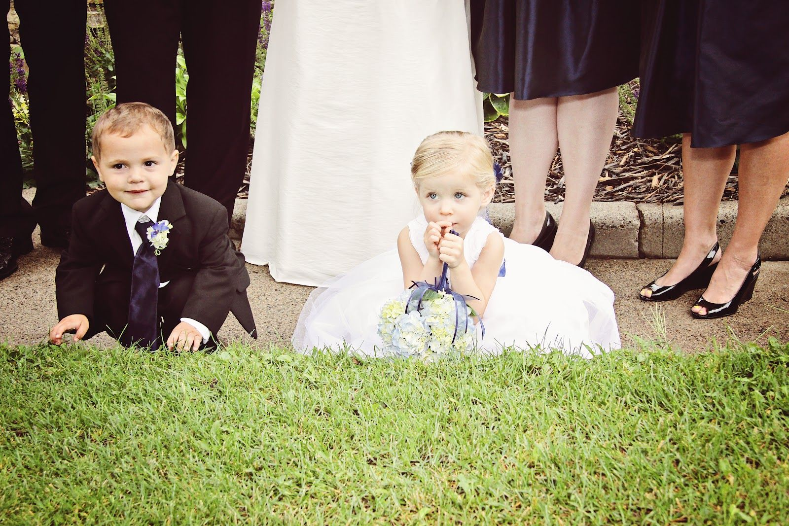 Flower Girl and Ring Bearer in Adorable Selfinitiated