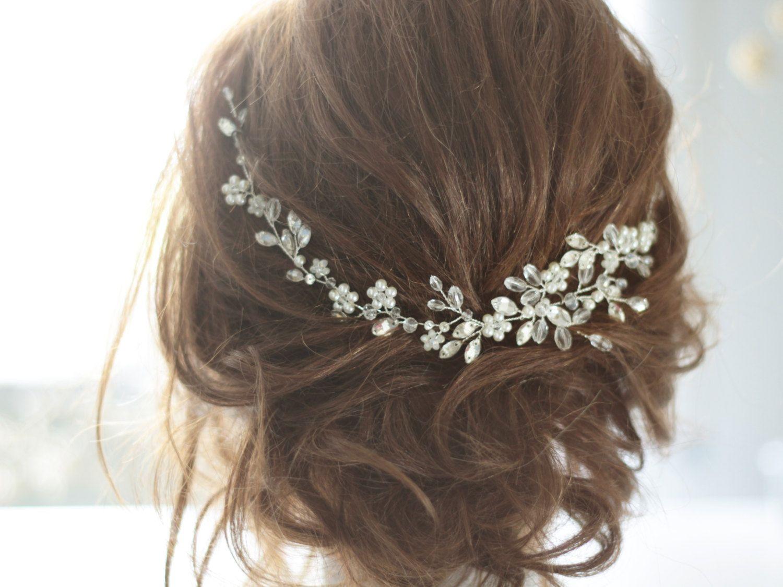 bridal headpiece wedding hair vine bridal hair vine pearl bridal hair accessories