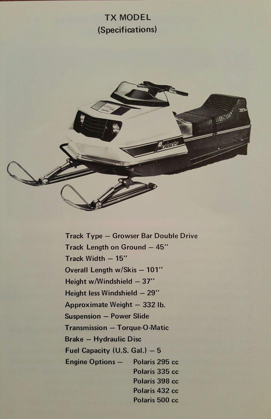 1973 Polaris Tx Snowmobile