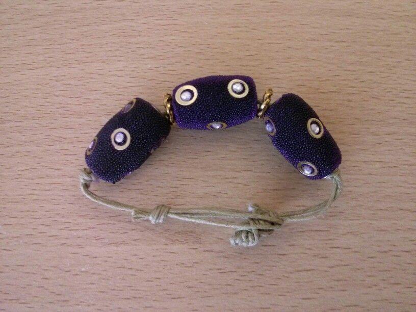 Bracelet made from freebies!