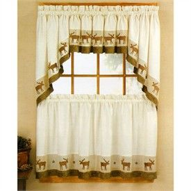 Cabin Style Kitchen Curtains