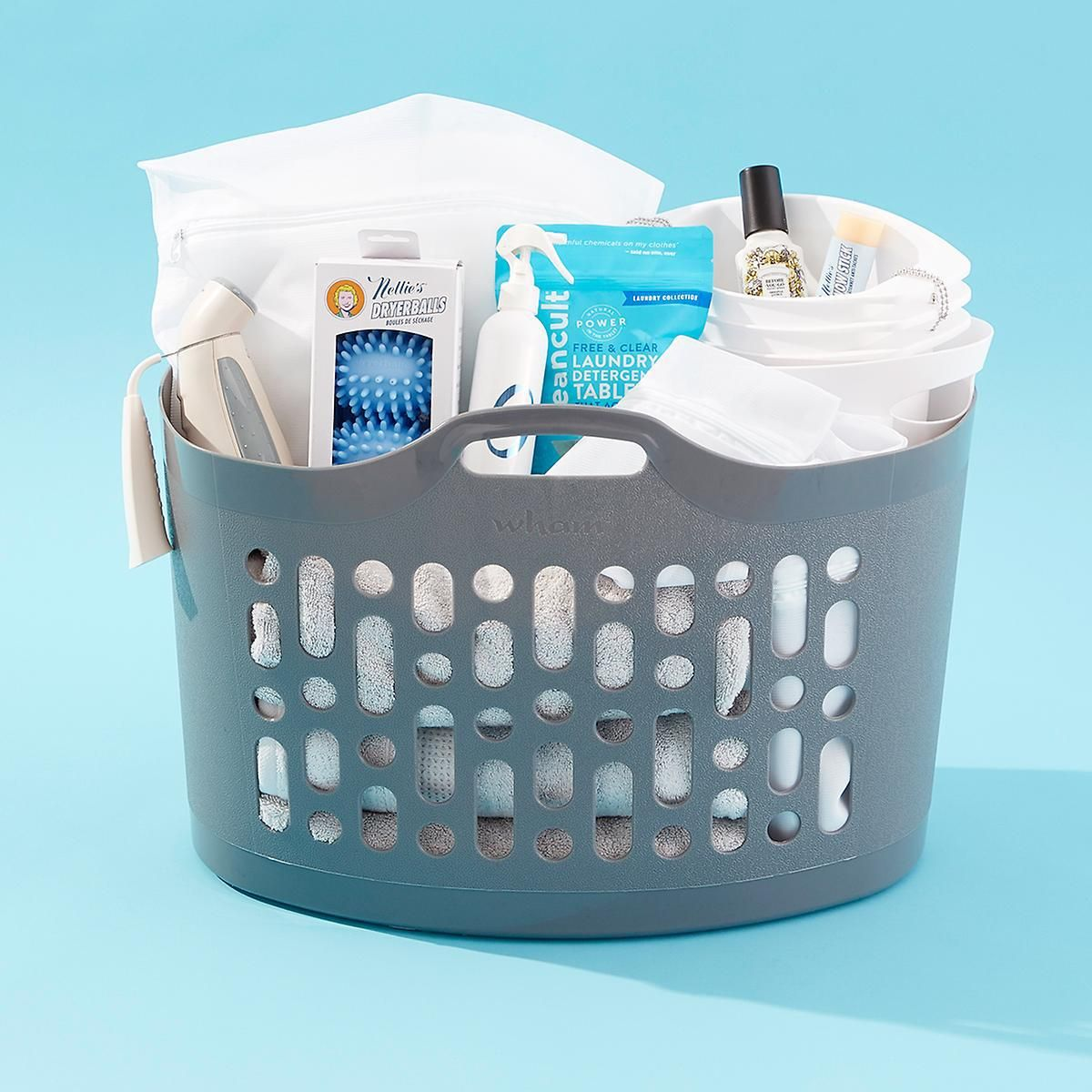 Laundry Essential Gift Basket For Grads And College Students Laundry Essentials Stackable Laundry Baskets Laundry Basket