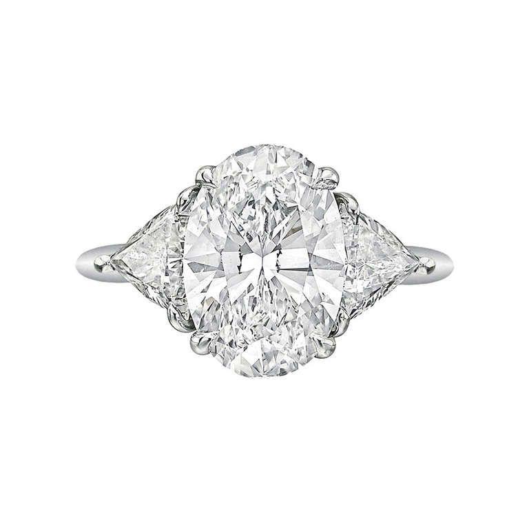 Tiffany & Co 3 09 Carat Oval Cut Diamond Engagement Ring