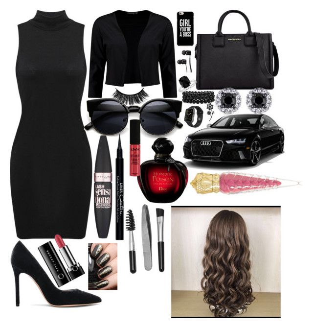 """Sophisticated business woman 💸"" by lilyalicewalker ❤ liked on Polyvore featuring Gianvito Rossi, Boohoo, Karl Lagerfeld, Vans, Blue Nile, Bling Jewelry, Apple, Kate Spade, Maybelline and Givenchy"