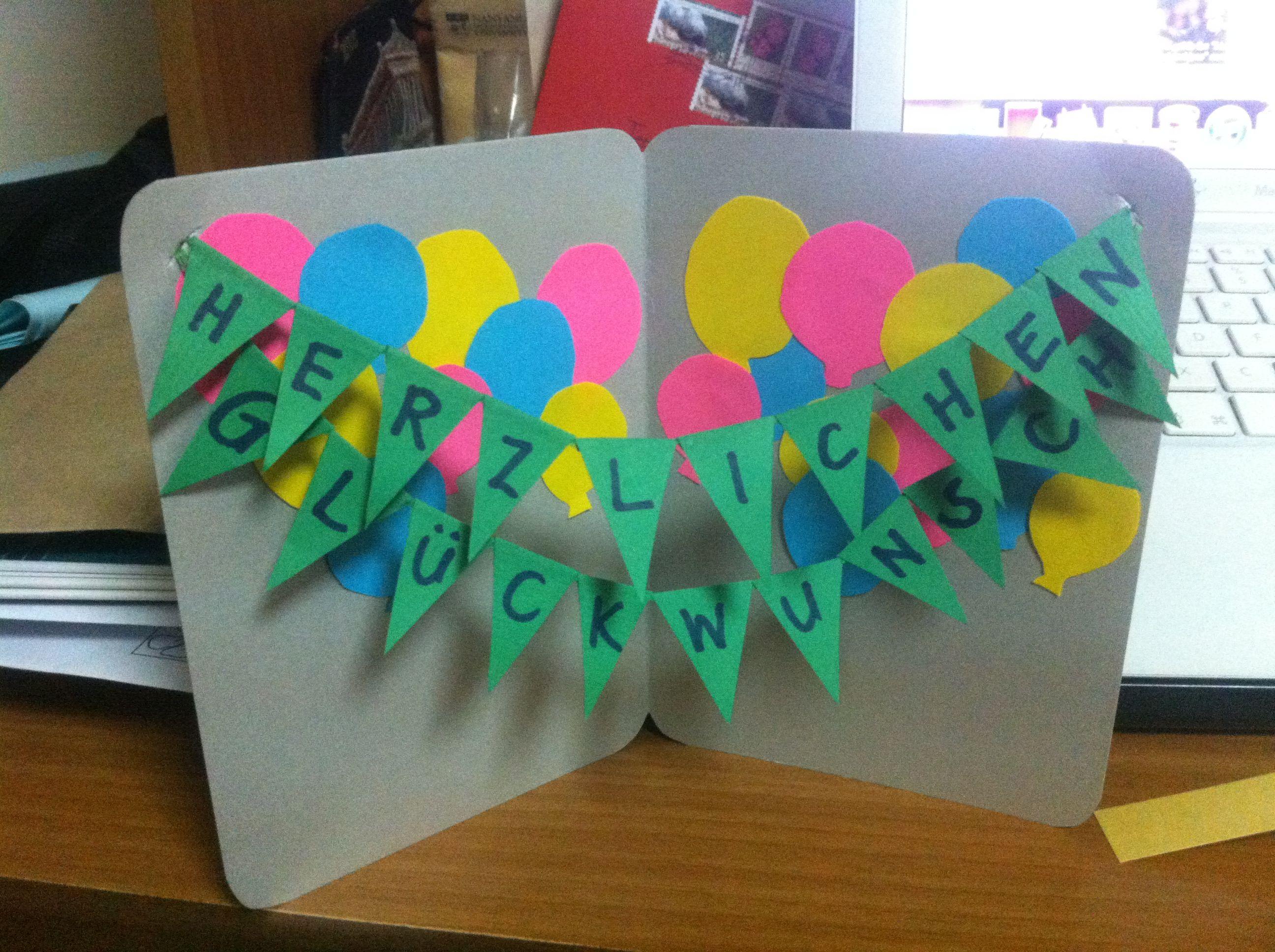 German DIY birthday card pop up Creativity Pinterest – How to Make Birthday Pop Up Cards Easy
