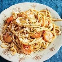 Rachel Ray ~ Poblano Cream Pasta with Shrimp. YUMO! annabelle_1016