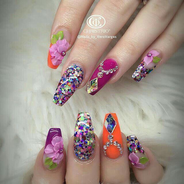 Pinterest: @Anahi☆ | Uñas con flores, Arte de uñas, Uñas ...