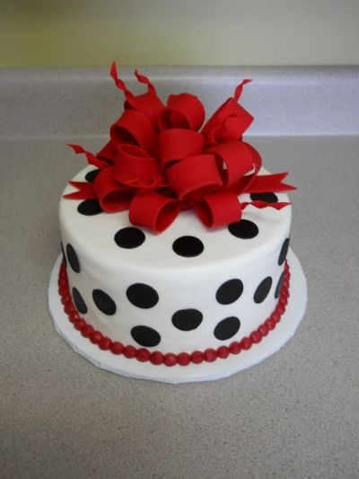 Red Bow Amp Black Polka Dots By Batterupcakery On
