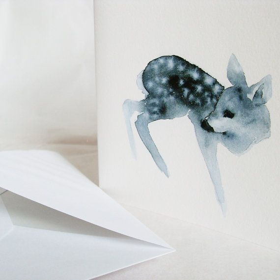 """Greeting cards """"Geister Rehe"""" by dearcatherina.etsy.com, $18,00"""
