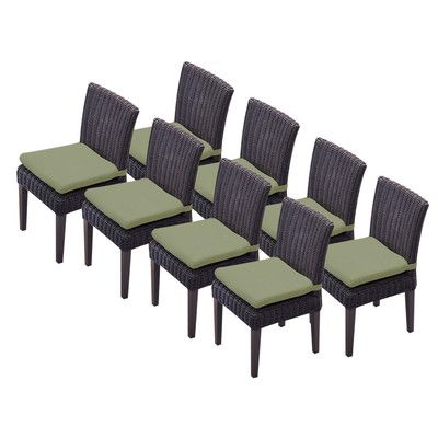 TK Classics Venice Dining Side Chair with Cushion (Set of 8) Fabric: