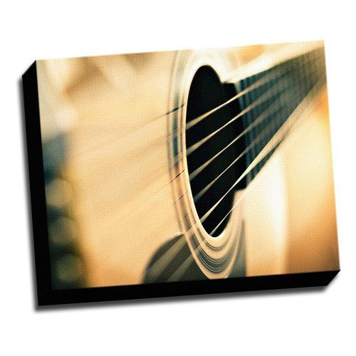 Acoustic Guitar Marcro Photo Canvas Wall Art Picture It On Canvas ...