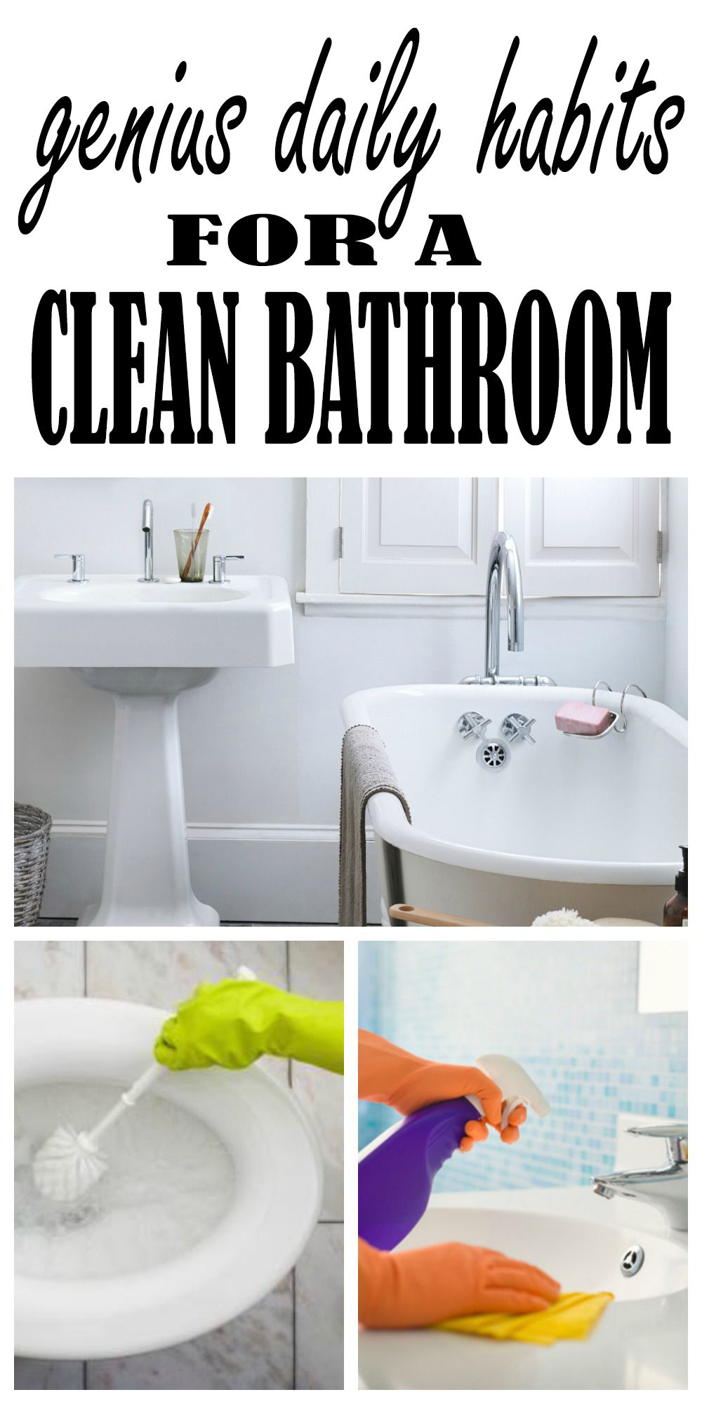 How to clean your living room in 5 minutes - Genius Habits To Clean Your Bathroom In Just 5 Minutes A Day With Some Simple